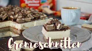 Cremeschnitten ohne Backen - vom Feinsten / No Bake Napolitaner Schnitten / Sommerrezept