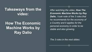 The 3 Rules from the video How The Economic Machine Works by Ray Dalio