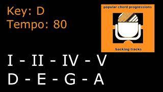 I - II - IV - V In The Key Of D | Popular Chord Progressions