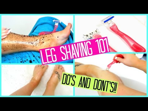 HOW TO SHAVE YOUR LEGS FOR BEGINNERS!!