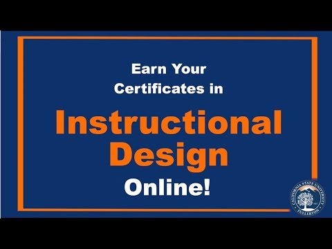 Earn your certificate in Instructional Design - YouTube
