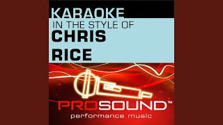 Deep Enough To Dream (Karaoke Instrumental Track) (In the style of Chris Rice)
