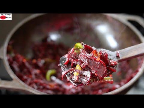 Beetroot Mezhukkupuratti – ബീറ്റ്റൂട്ട്മെഴുക്കുപുരട്ടി – Beetroot Stir Fry   Skinny Recipes