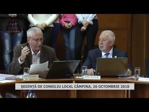 Şedinta de Consiliu Local Câmpina 25 octombrie 2018