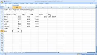 Excel Basic Formulas and Functions