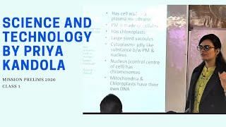 Science & Tech for UPSC PRELIMS 2020 | BY PRIYA KANDOLA MAM | EDEN IAS