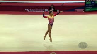 SARAIVA Flavia (BRA) - 2018 Artistic Worlds, Doha (QAT) - Qualifications Floor Exercise
