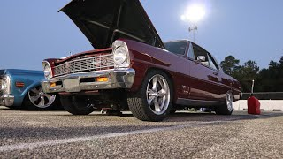66 LSX NITROUS NOVA BREAKS AN AXLE ON THE FIRST PASS AT THE TRACK🤦🏽♂️!