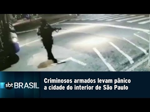 Criminosos armados levam pânico a cidade do interior paulista