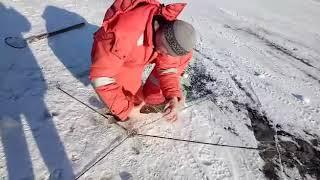 """Зимняя рыбалка на реке""""Амур""""ч2"""