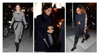 Pregnant Meghan Markle steps out with friends in Night New York City
