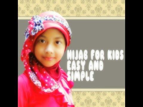 Video Hijab Paris Simple Untuk Anak Tanpa Jarum Pentul