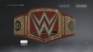 WWE 2K17 Creations: Kevin Owens Custom WWE Universal Championship Side Plates
