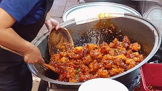 Very Famous Sweet And Spicy Chicken - Korean Street Food / 신포닭강정
