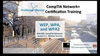 UnderstandingWEP,WPA,andWPA2-CompTIANetwork+N10-005:5.1