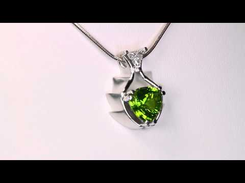Peridot Pendant Designed By Christopher Michael 5.83 Carat