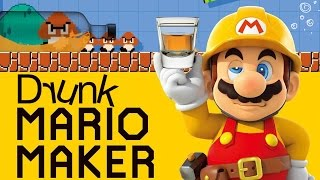 DRUNK MARIO MAKER - Super Mario Maker Gameplay
