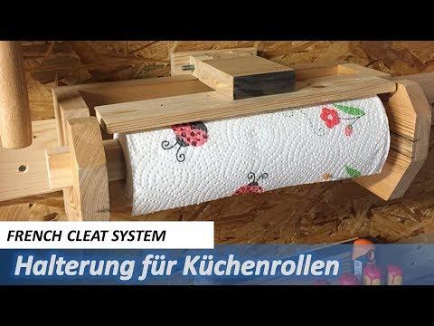 Papierrollenhalter für Werkstatt - French Cleat System - Kitchen Roll Dispenser / Holder