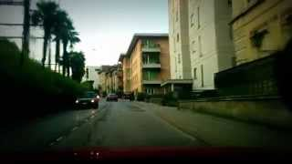 preview picture of video 'Driving around in Lugano at sunset'
