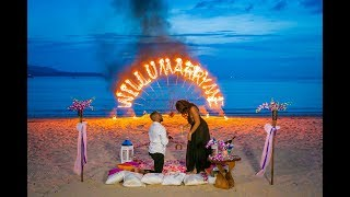 Phuket Weddings & Events Planner - BESPOKE EXPERIENCES - Engagement With Fire Sign Performance
