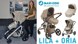 MAXI-COSI LILA KINDERWAGEN + BABYWANNE ORIA | UNBOXING | Weihnachten mit Familie DIAMANTA