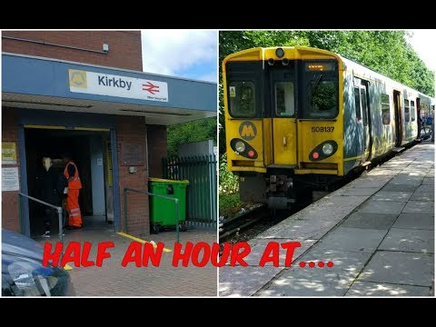 Half an hour at Kirkby Station featuring Merseyrail EMUs 16t…