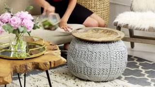 Creating A Makeshift Accent Table With Genevieve Gorder