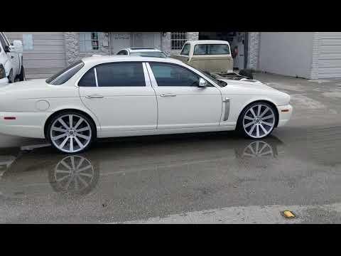 """22"""" Spec-1 SPL-002 Brushed Silver Wheels Jaguar XJ Concave Rims Luxury Review"""
