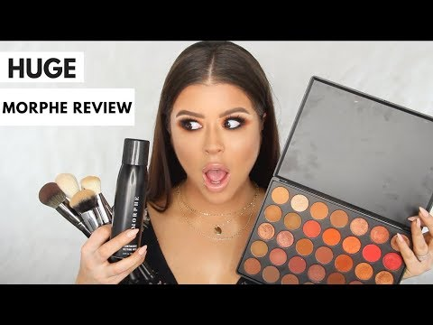 HonestAF MORPHE REVIEW: 3502 Palette, Brushes, Sponge, and Continuous Setting Spray