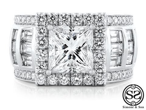 Custom Princess Cut Halo Engagement Ring