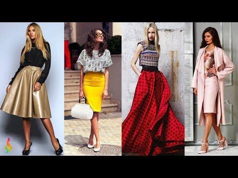Модные сочетания юбки и блузки на весну-лето 2018 💎 Стильные фото идеи юбка + блузка
