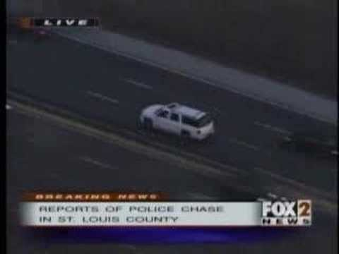 Extreme police chase and car crash
