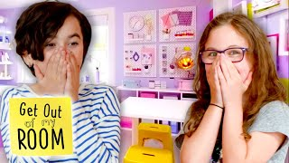 Sisters Transform Shared Room Into An ARTSY LOFT! | Get Out Of My Room | Universal Kids