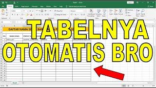 Cara Membuat Tabel Secara Otomatis Di Microsoft Excel