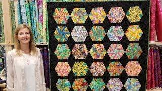 Donnas FREE Hexagon Pinwheels Pattern!
