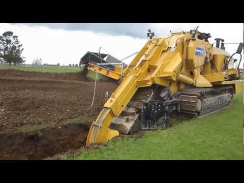 Trencher at work