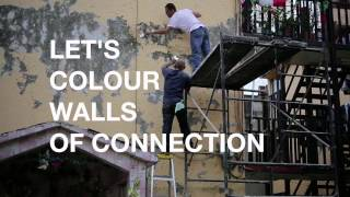 Colouring walls to connect We launched our new project LetsColourWallsofConnection with a
