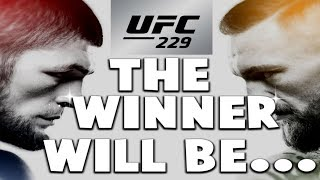 UFC 229:  CONOR MCGREGOR VS KHABIB NURMAGOMEDOV! (PREDICTION!)
