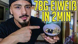 Fitness Frühstück Muskelaufbau - 78g Eiweiß und 951 Kalorien in 2 Minuten