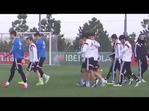 Entrenamiento con el Castilla 25/03/2015