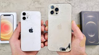 Apple iPhone 12 Mini vs Apple iPhone 12 Pro Max DROP Test! Size Matters