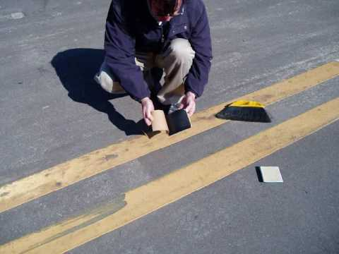 Installing Reflective Raised Pavement / Road Markers