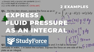 📚 How to express fluid pressure force as an integral (Part 1, Rectangle Dam)