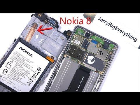 Nokia 8 messo a nudo da JerryRigEverything