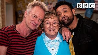 Gambar cover Sting and Shaggy perform their new song 'Don't Make Me Wait' to Mrs Brown - BBC