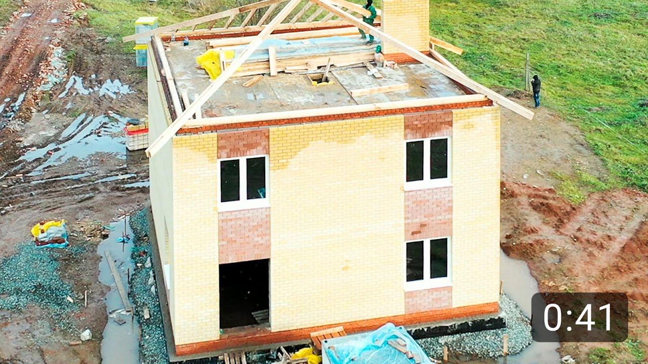 Двухэтажный дом из газобетона 150 м2