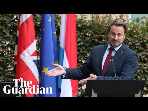 Luxembourg PM holds press conference alone after protesters boo Boris Johnson