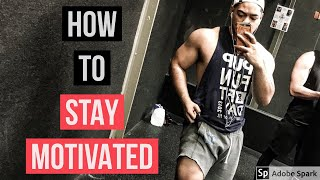 HOW TO STAY MOTIVATED IN THE GYM | TIPS FOR BUILDING MUSCLE