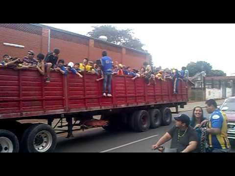 """""""Chancholigan's rumbo al estadio !"""" Barra: Chancholigans • Club: Sportivo Luqueño"""