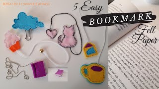 PART 1 DIY Felt Bookmark Craft Project (Step By Step Tutorial)   How To Make Bookmarks Using Felt  